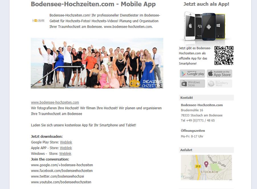Bodensee-Hochzeiten.com – jetzt auch als App!