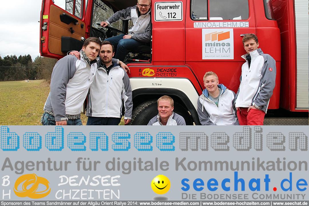 Bodensee-Hochzeiten.com sponsert das Team Sandmänner auf der Allgäu Orient Rallye 2014