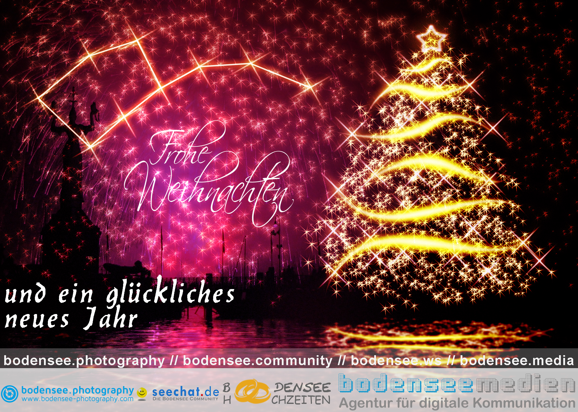 Bodensee-Hochzeiten.com wünscht ein schönes Weihnachtsfest und einen guten Rutsch ins neue Jahr