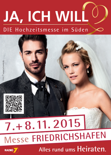 Bodensee-Hochzeiten.com auf der Messe JA, ICH WILL 7+8.11.2015 – Die Hochzeitsmesse in Friedrichshafen am Bodensee